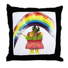 Fairy Moose Mother Throw Pillow