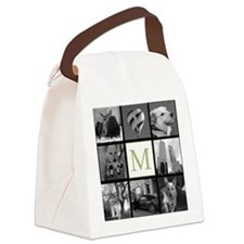 Big Photo Block and Monogram Canvas Lunch Bag