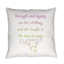 Proverbs 31 woman Everyday Pillow
