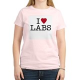 I heart Labs Women's Pink T-Shirt