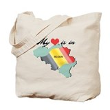 My Heart is in Belgium (2) Tote Bag