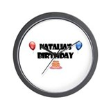 Natalia's Birthday Wall Clock