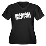 Hardcore Napper Women's Plus Size V-Neck Dark T-Sh