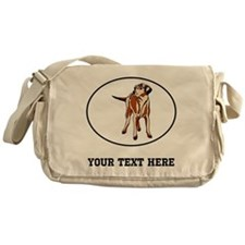 Custom Wirehaired Vizsla Messenger Bag