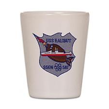 USS HALIBUT Shot Glass
