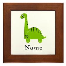 Green Dinosaur (p) Framed Tile