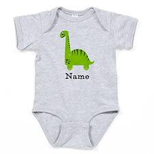 Green Dinosaur (p) Baby Bodysuit