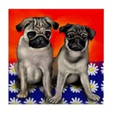 Pugs Tile Coaster
