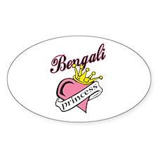 Bengali Princess Oval Decal