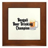 Bengali Beer Champ Framed Tile