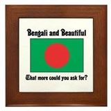 Bengali and Beautiful (2) Framed Tile