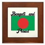 Bengali and Proud Framed Tile