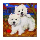 West Highland Terrier westie Tile Coaster