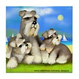 SCHNAUZER FAMILY Tile Coaster