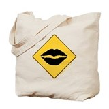 Crossing Zone Lips Tote Bag