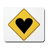 Crossing Zone Heart Mousepad