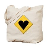 Crossing Zone Heart Tote Bag