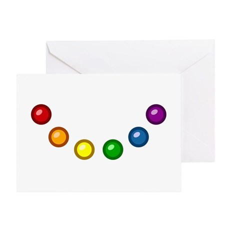 Rainbow Baubles Greeting Card