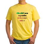 RICH ATTITUDE Yellow T-Shirt