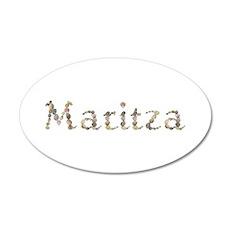 Maritza Seashells 35x21 Oval Wall Decal