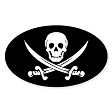 PIRATE! Oval Decal