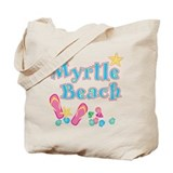 Myrtle Beach Flip Flops - Tote or Beach Bag