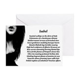 """Isabel"" Greeting Card"