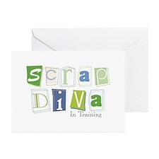 Scrap Diva (IT) Blue Greeting Cards (Pk of 10)