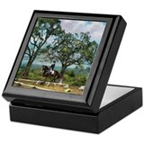 Woodside Trot Dressage Horse Keepsake Box