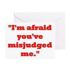 MISJUDGED ME? Greeting Cards (Pk of 20)