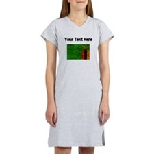 Distressed Zambia Flag (Custom) Women's Nightshirt