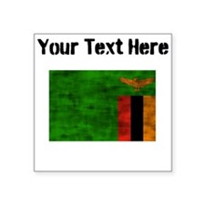 Distressed Zambia Flag (Custom) Sticker