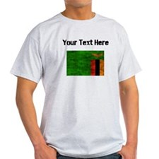 Distressed Zambia Flag (Custom) T-Shirt