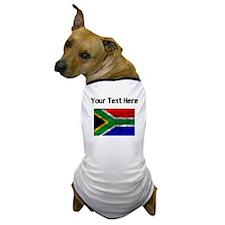 Distressed South Africa Flag (Custom) Dog T-Shirt