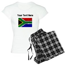 Distressed South Africa Flag (Custom) Pajamas