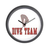 Red Dive Team Logo Wall Clock