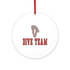 Red Dive Team Logo Ornament (Round)