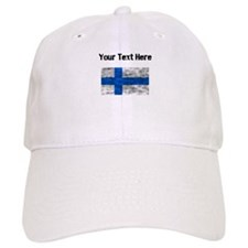 Distressed Finland Flag (Custom) Baseball Baseball Cap