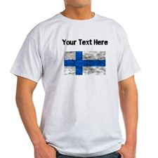 Distressed Finland Flag (Custom) T-Shirt