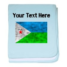 Distressed Djibouti Flag (Custom) baby blanket
