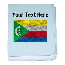 Distressed Comoros Flag (Custom) baby blanket
