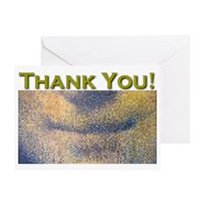 Mona Lisa Smile THANK YOU Greeting Card