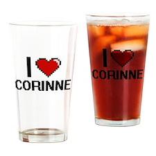I Love Corinne Drinking Glass