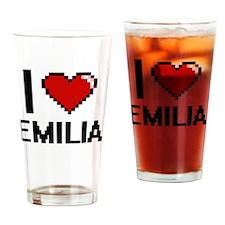 Funny Emilia Drinking Glass