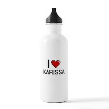 I Love Karissa Water Bottle