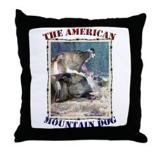 Unique Mountain dog Throw Pillow