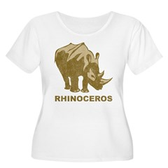 Vintage Rhinoceros Women's Plus Size Scoop Neck T-