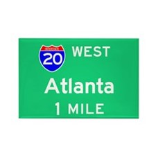 Atlanta 20 West Rectangle Magnet (100 pack)