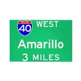 Amarillo TX 40 West Rectangle Magnet (100 pack)