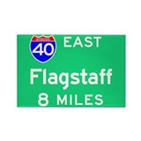 Flagstaff AZ 40 East Rectangle Magnet (100 pack)